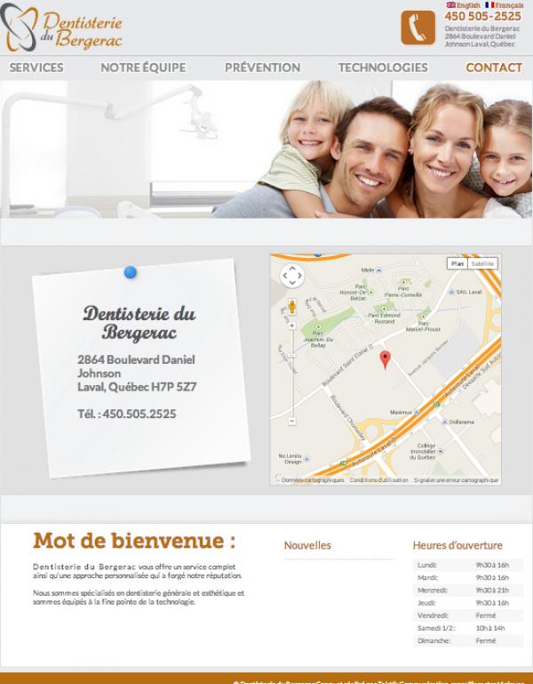 Dentisterie du Bergarc Contact