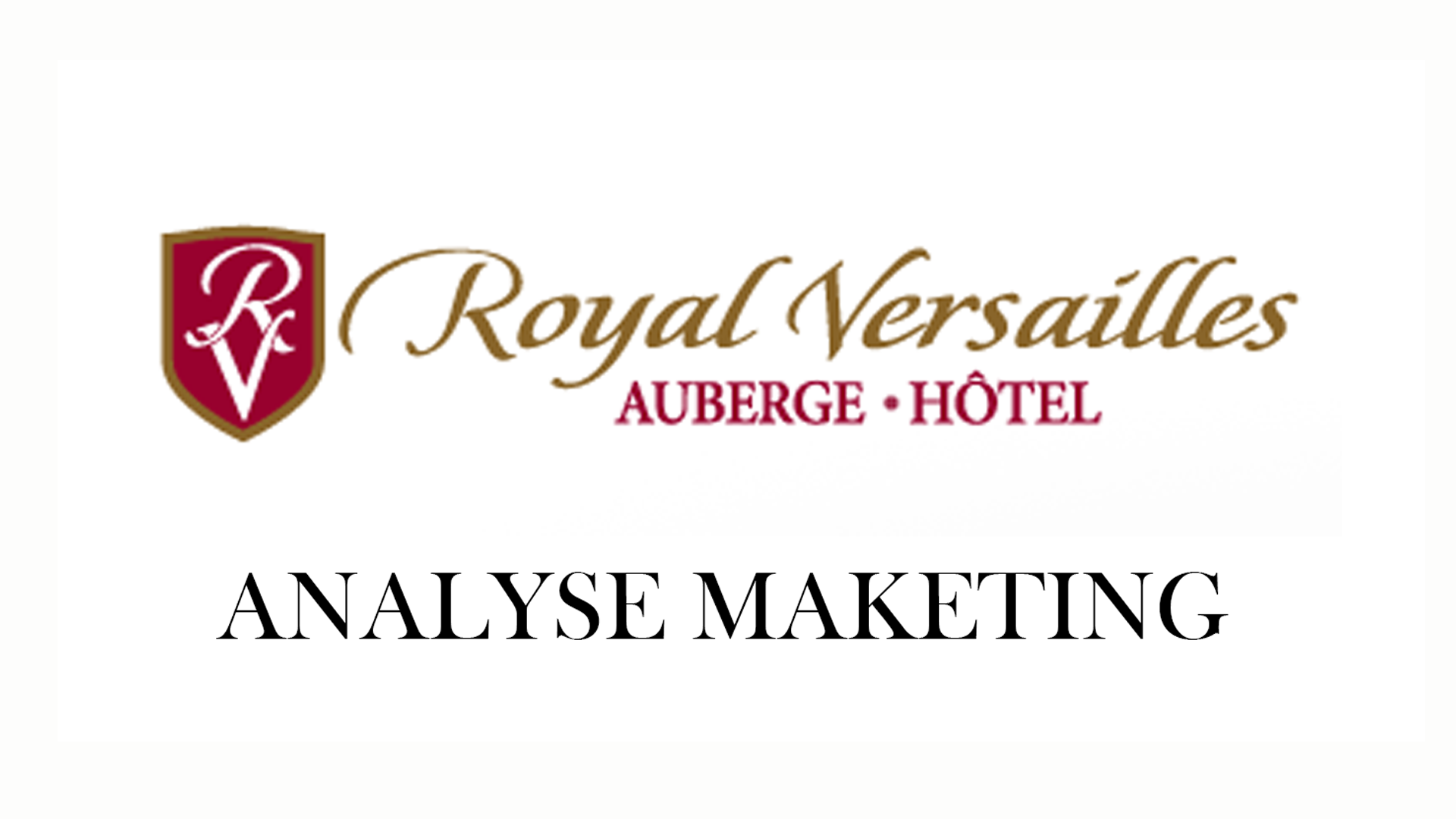 Analyse strat gique positionnement auberge royal - Vanite avec une couronne royale analyse ...